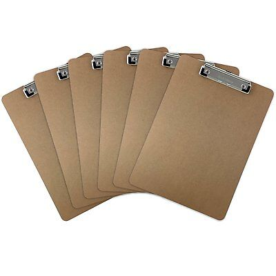 6pk Brown Standard Clipboards DIY Decor Document Picture Holder Supplies LOT](Movie Clipboard)