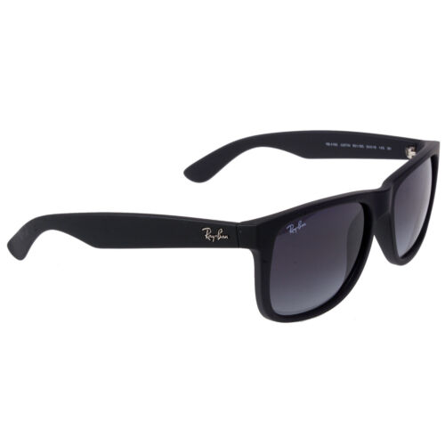 RayBan RB4165 Justin New Wayfarer Sunglasses 54mm (Rubber Black/Gray Gradient)