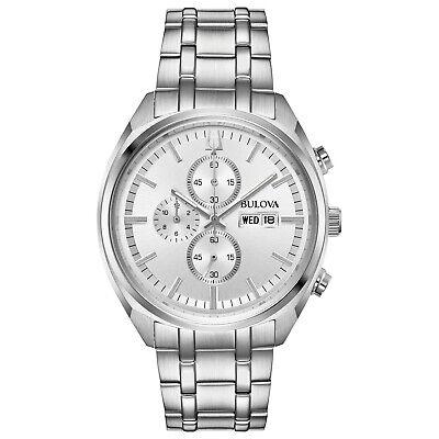 Bulova Men's Chronograph Quartz Silver Multi Dial Calendar Watch 96C135