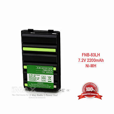 2200Mah Battery For Yaesu Vertex Fnb 83 Ft 60R Ft 60E Ft 250R Ft 270R