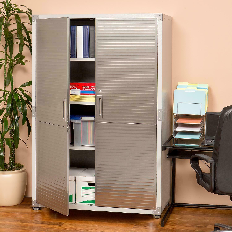 UltraHD Mega Storage Cabinet Large sized, powder-coated steel Seville Classics