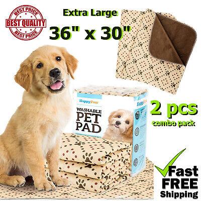 2 pcs Extra Large Washable Dog Puppy Pee Potty Training Pads Waterproof Reusable