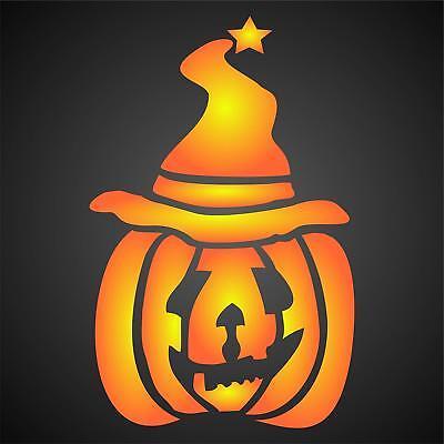 Halloween Pumpkin Wizard Stencil Reusable Painting Walls, Floors, Fabrics, Glass