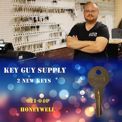 2 Honeywell Safe Keys Cabinet. Code 021-040 Cash Box Key Organizer Lock Box Keys
