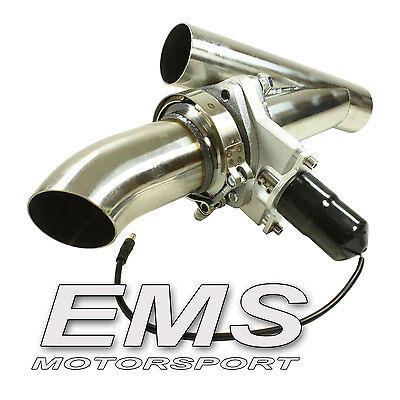 EMS Edelstahl Klappenauspuff regelbar mit Fernbedienung 63mm  --- AK2