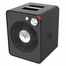 Vornado 2 Setting Whole Room Vortex Circulation Sleek Metal Space Heater, Black