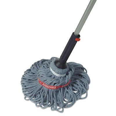 Rubbermaid Commercial Ratchet Twist Mop Self-Wringing Blended Yarn Head Blue 56