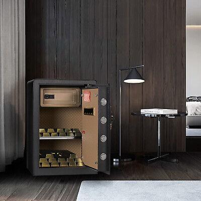 Adjustable Shelf Electronic Digital Lcd Lock Keypad Safe Box W Interior Lock