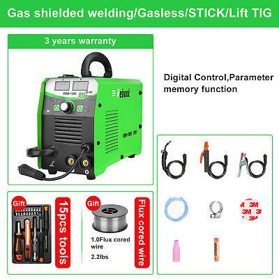 Mig Welder Flux Core 130a Gasgasless Inverter Migsticktig Welding Machine Usa