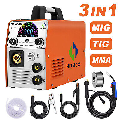 Hitbox 3in1 Mig Welder Inverter Welding Machine 220v Igbt Arc Mig Mma Tig Welder
