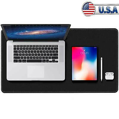 Dual-sided Desk Pad Protector With Pu Leather Laptop Desk Mat Desk Mouse Pad