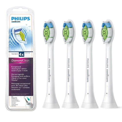 4X Genuine Philips Sonicare HX6064/65 Diamond Clean Brush Heads - SEALED IN BOX