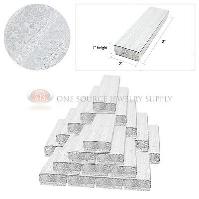 25 Silver Foil Gift Jewelry Cotton Filled Boxes 8 X 2 X 1 Bracelets Watches
