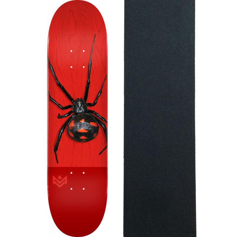 """Powell Mini Logo Skateboard Deck K20 Poison Black Widow Red 8.5"""" x 32.08"""" with"""