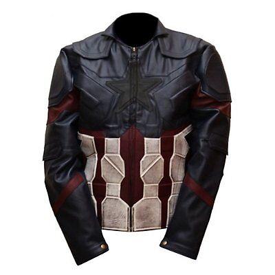Captain America Avengers Infinity War Chris Evans Leather Jacket Costume](Leather Jacket Costume)