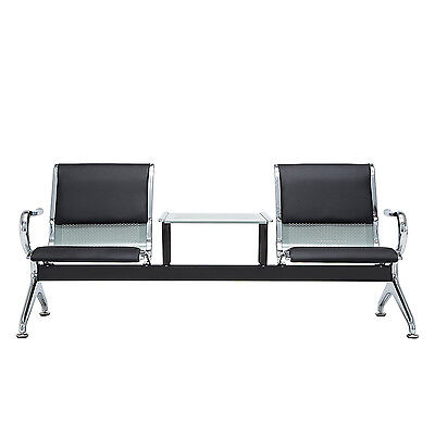 2-seat Airport Office Reception Salon Waiting Room Porch Bench Chairs Furniture