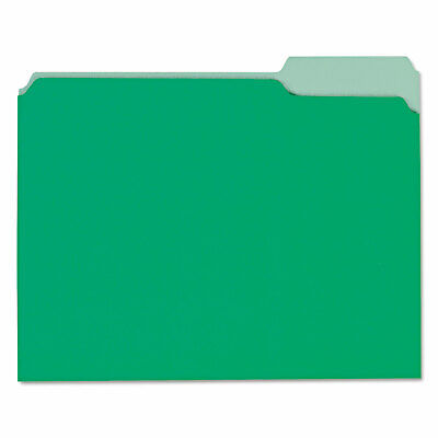Universal Recycled Interior File Folders 13 Cut Top Tab Letter Green 100box