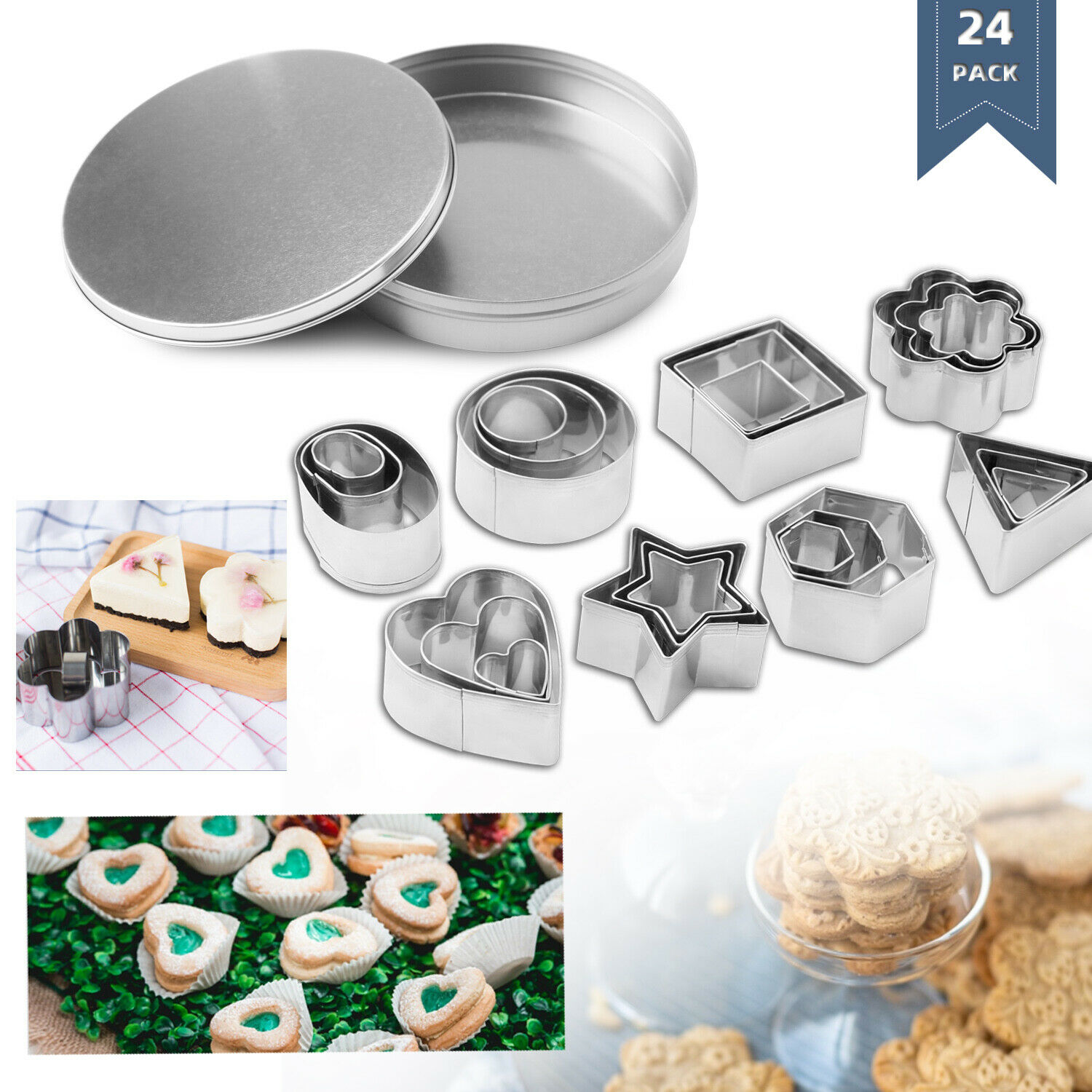 Stainless Steel Snowflake Cookie Cutter Biscuit Pastry Cake Mold Baking Tool Uti