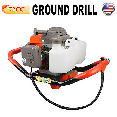 4hp 72cc Gas Powered Post Hole Digger Earth Auger Digging Engine Head 2-cycle