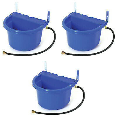 Little Giant 4 Gal Auto Float Controlled Waterer Livestock Water Trough 3 Pack