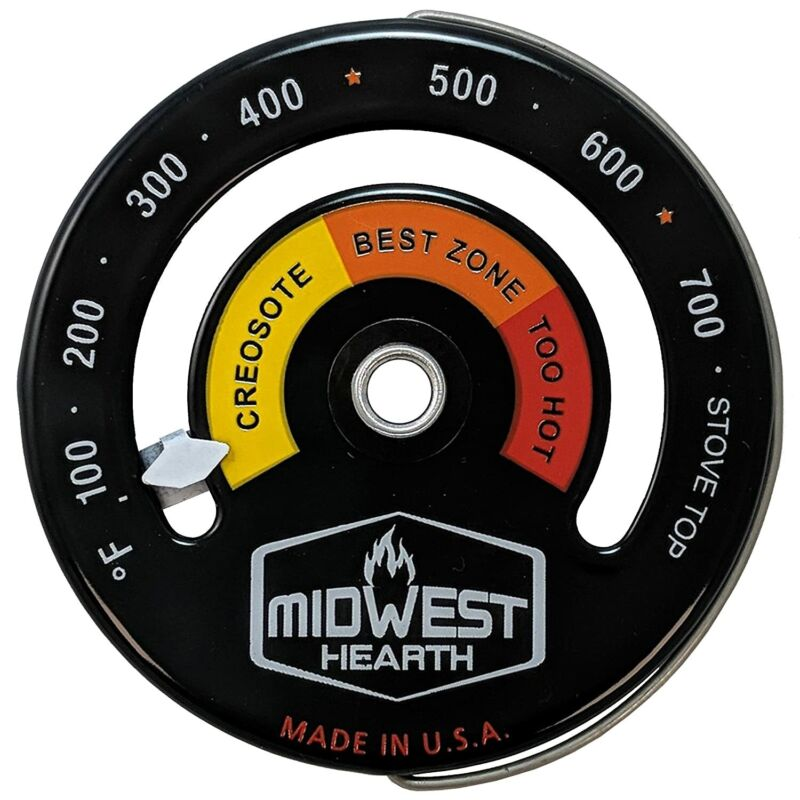 Midwest Hearth Wood Stove Thermometer - Magnetic Stove Top M