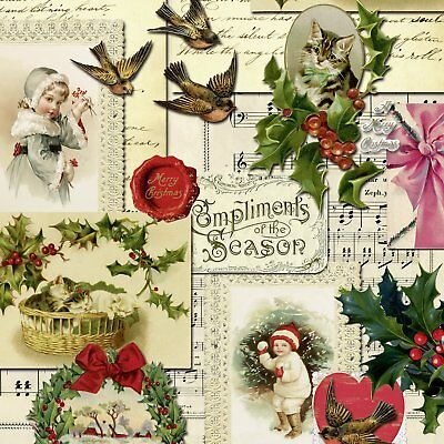 COMPLIMENTS OF THE SEASON CHRISTMAS paper 33 cm square 3 ply napkins 20 pac