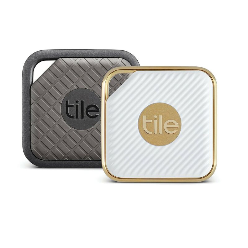 Tile Pro- Sport and Style Smart Trackers, Gray/White (2-pack)