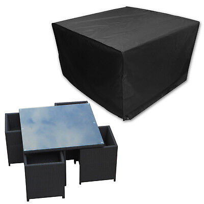 Waterproof Outdoor Rain Cover For Rattan Cube Garden Furniture Heavy Duty New ()