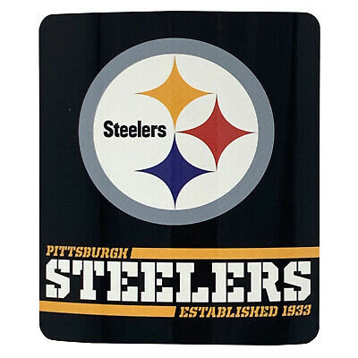 NEW Pittsburgh Steelers  Licensed Fleece Throw Blanket Football Team 50'' X 60'' ()