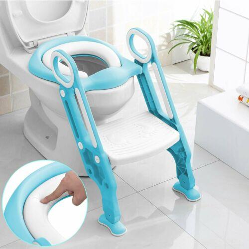 Kids Potty Training Seat Adjustable Step Stool Ladder Toilet