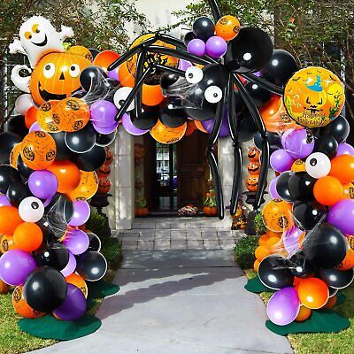 Halloween Balloon Arch Garland Kit Balloons Party Decorations for Halloween121pc