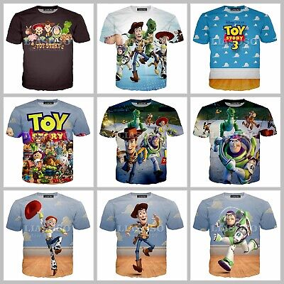 New Fashion Women/Men Cartoon Movies Toy Story 3 3D Print Casual T-Shirt G07