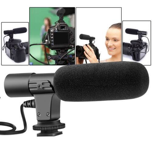 3.5mm External Stereo Microphone For Canon Nikon DSLR Camera DV Camcorder Phone