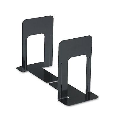 UNIVERSAL Economy Bookends Standard 5 7/8 x 8 1/4 x 9 Heavy Gauge Steel Black