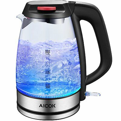 Aicok Glass Electric Kettle 1.7L Fast Water Kettle Premium