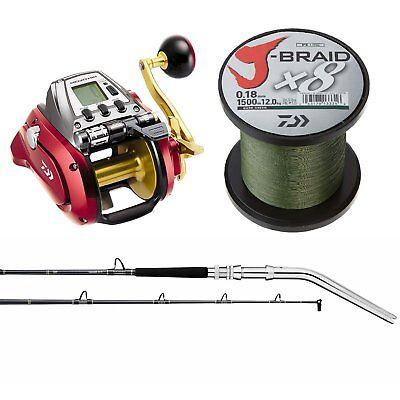 "Save $400-Daiwa Seaborg 1200 MJ Electric Fishing Combo-6'6"" Rod -Reel/Rod/Braid"