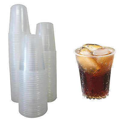 100 Plastic Cups 5 oz Clear Glasses Disposable Office Dispenser Party Wedding - 5 Oz Cups