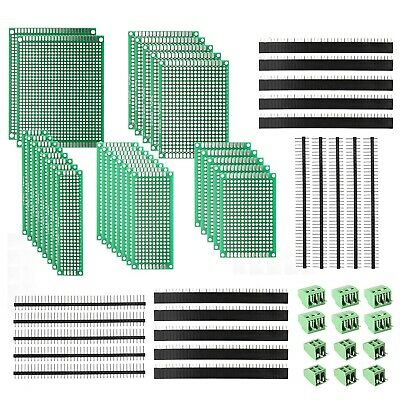 60 Pcs Double Sided Pcb Board Prototype Kit For Diy Electronic Project 5 Sizes .