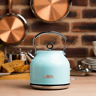 Haden Heritage Turquoise 1.7 litres Vintage Kettle Rapid Boil BPA free