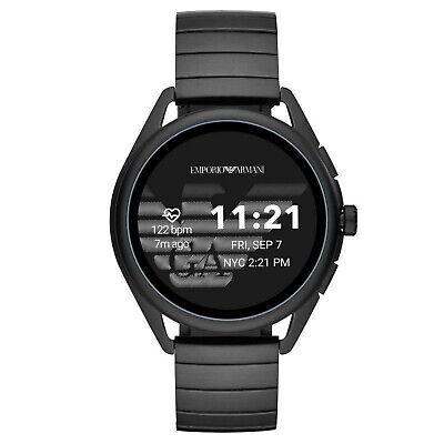Emporio Armani Matteo 44mm Smart Watch Bluetooth Silver Swim GPS Sport Heart Run