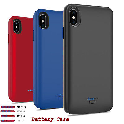 iPhone Xr Xs 8 Portable Battery Case Charger External Power Bank Charging Cover