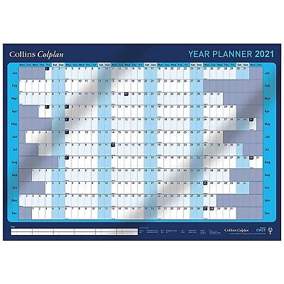 Collins 2021 Colplan A1 Laminado Pared Agenda Anual 60 x 84cm Pegatinas