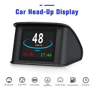 Car HUD Gauge Head Up Display OBD2 Speedometer Over Speed Warning Data Scan Tool