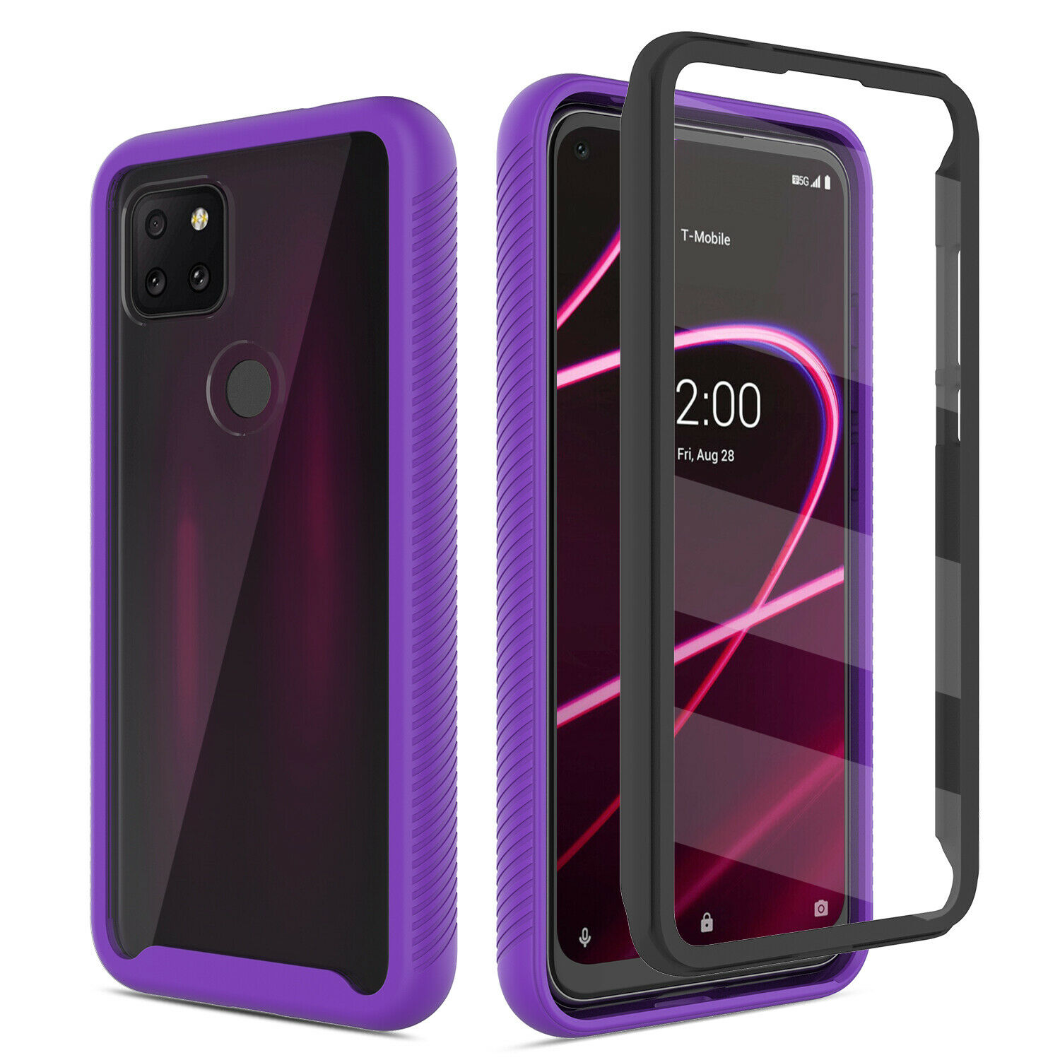 For T-Mobile REVVL 4/4+ Plus/REVVL 5G Case Cover With Built-in Screen Protector Cases, Covers & Skins