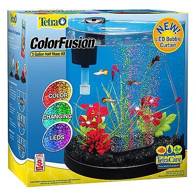 Small Aquarium Tank LED Bubbler Color Changing Light Whisper Filtration 3-Gallon