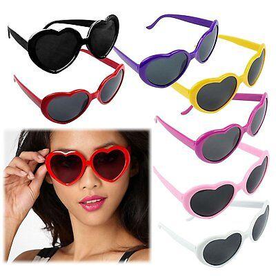 Vintage Retro Fashion Lolita Heart Shaped Aviator Black Frame Women Sunglasses (Vintage Heart Sunglasses)