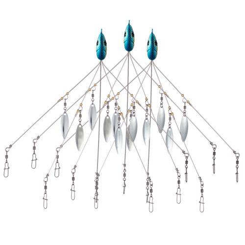 Bassdash 3pcs Umbrella Alabama Rig Bait Fishing Lure Head 5 Arms Multi-color New