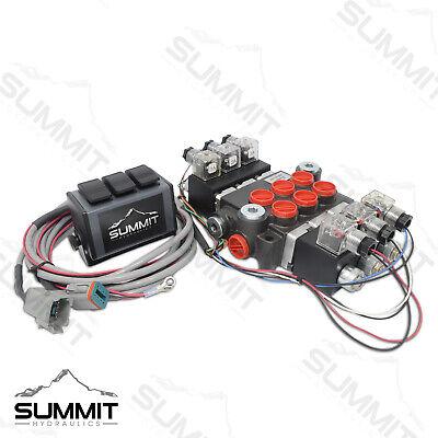 Hydraulic Monoblock Directional Solenoid Control Valve 3 Spool 13 Gpm W Switch