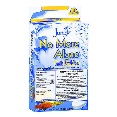 - Jungle 8-Tablets TANK BUDDIES Aquarium Water Crystal Clear NO MORE ALGAE 20669