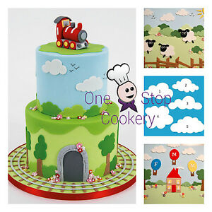 FMM Fluffy Cloud Cutters Sheep Trees Smoke Sugarcraft - Cake Decorating FREE P&P